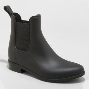 Women's A New Day Black Chelsea Rain Boots, NWT
